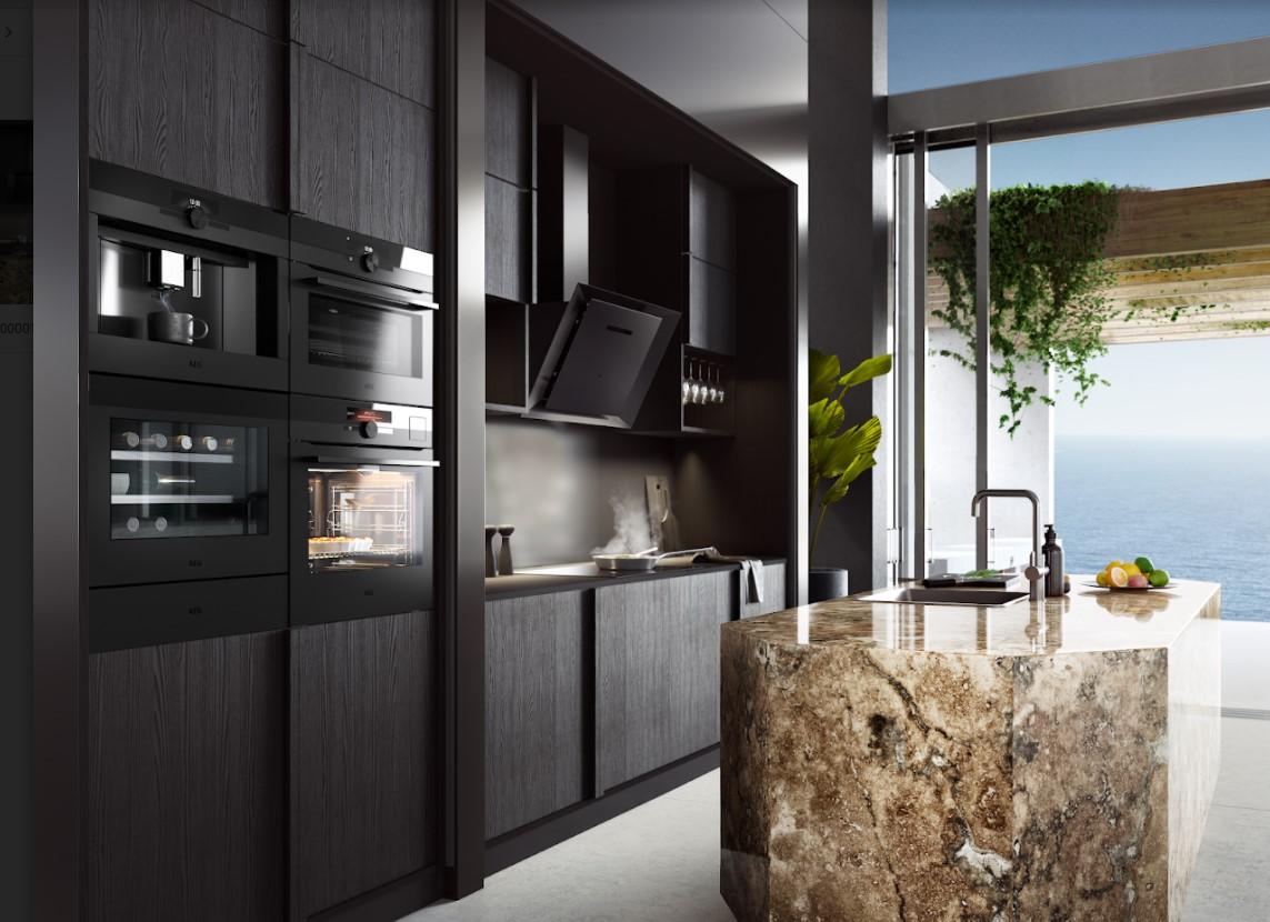 Matt-black keuken